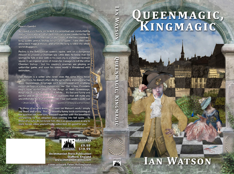 Cover for 'Queenmagic, Kingmagic' by Ian Watson, Immanion Press
