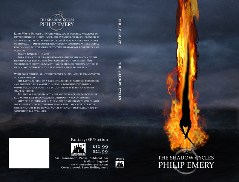 Cover for 'The Shadow Cycles' by Philip Emery , Immanion Press